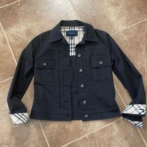 BURBERRY LONDON Black Jacket w Check Lining